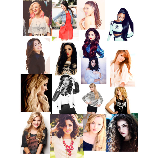 celebrities Collage of female
