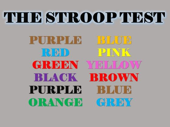 Are You Smart Enough To Pass The Stroop Test?