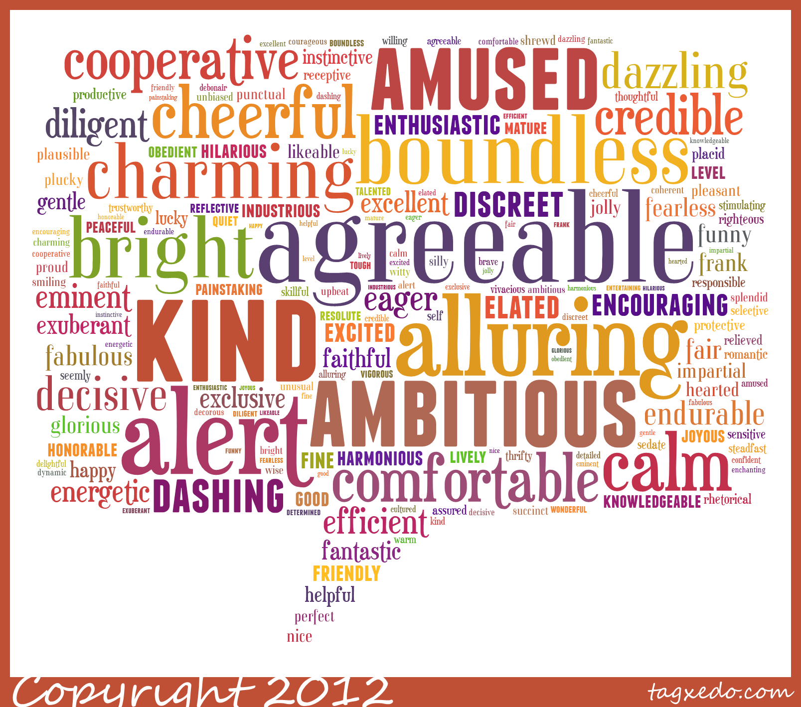 resume adjective words