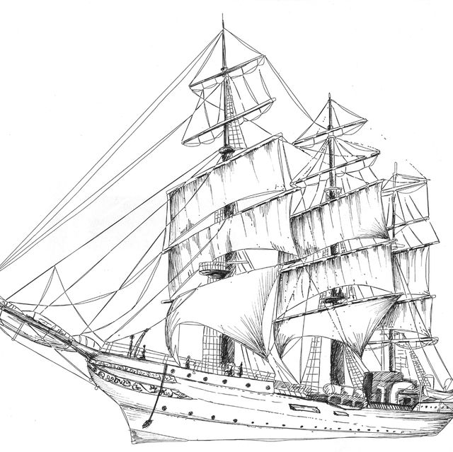 Pirate Ship Diagram With Labels