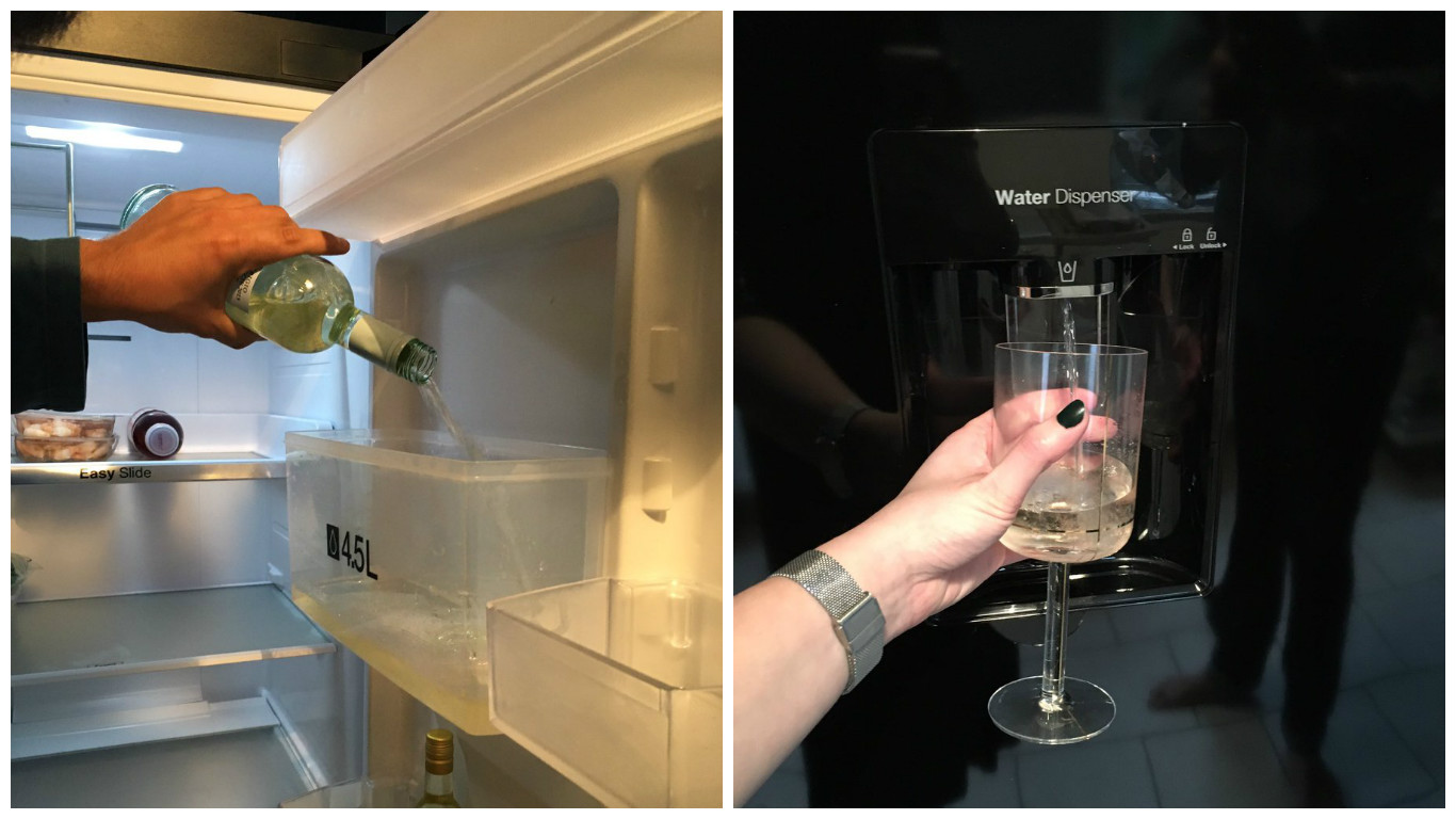 Hero Woman Turns Her Fridges Water Dispenser Into a Wine Dispenser