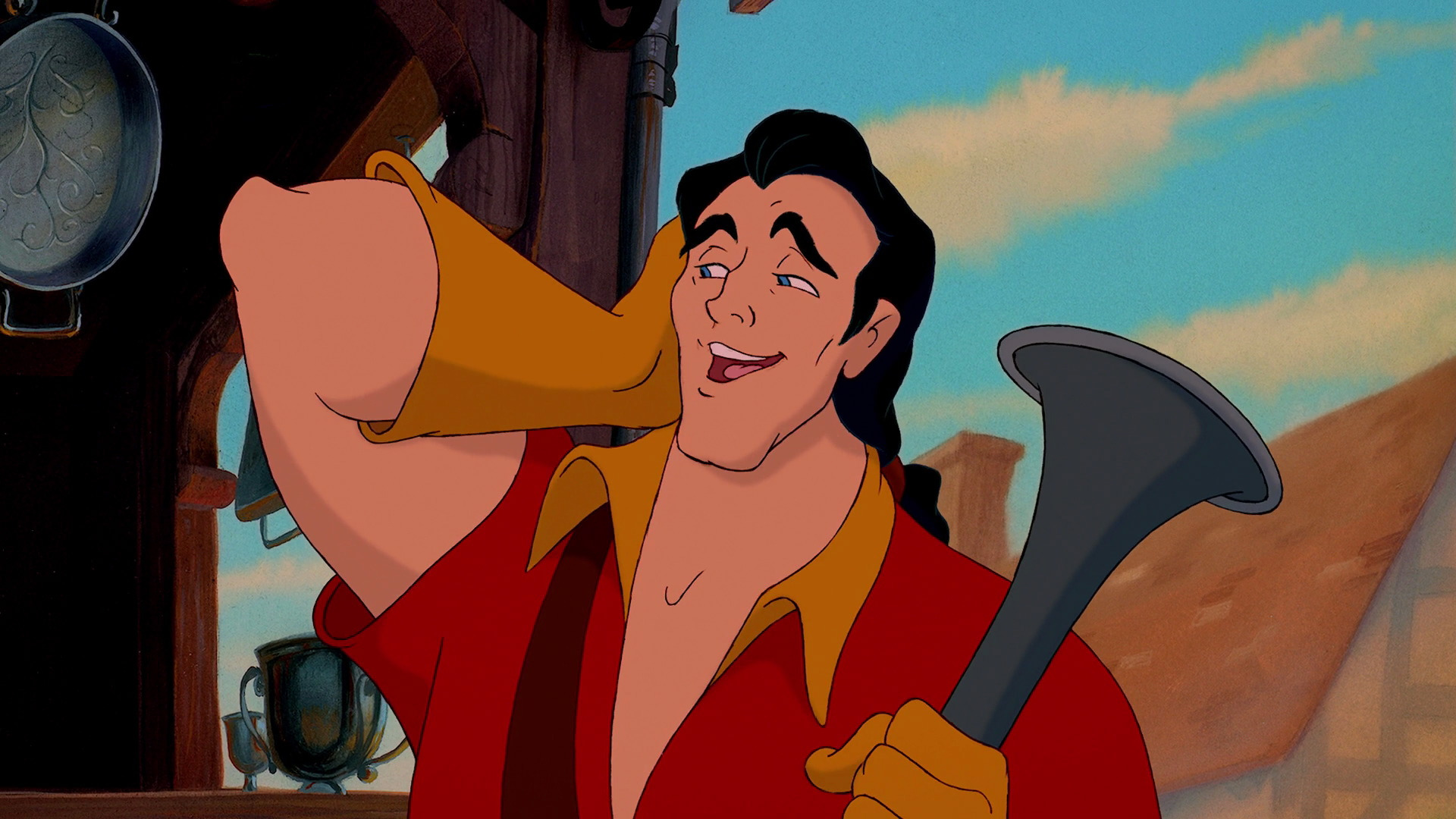 Image result for beauty and the beast gaston