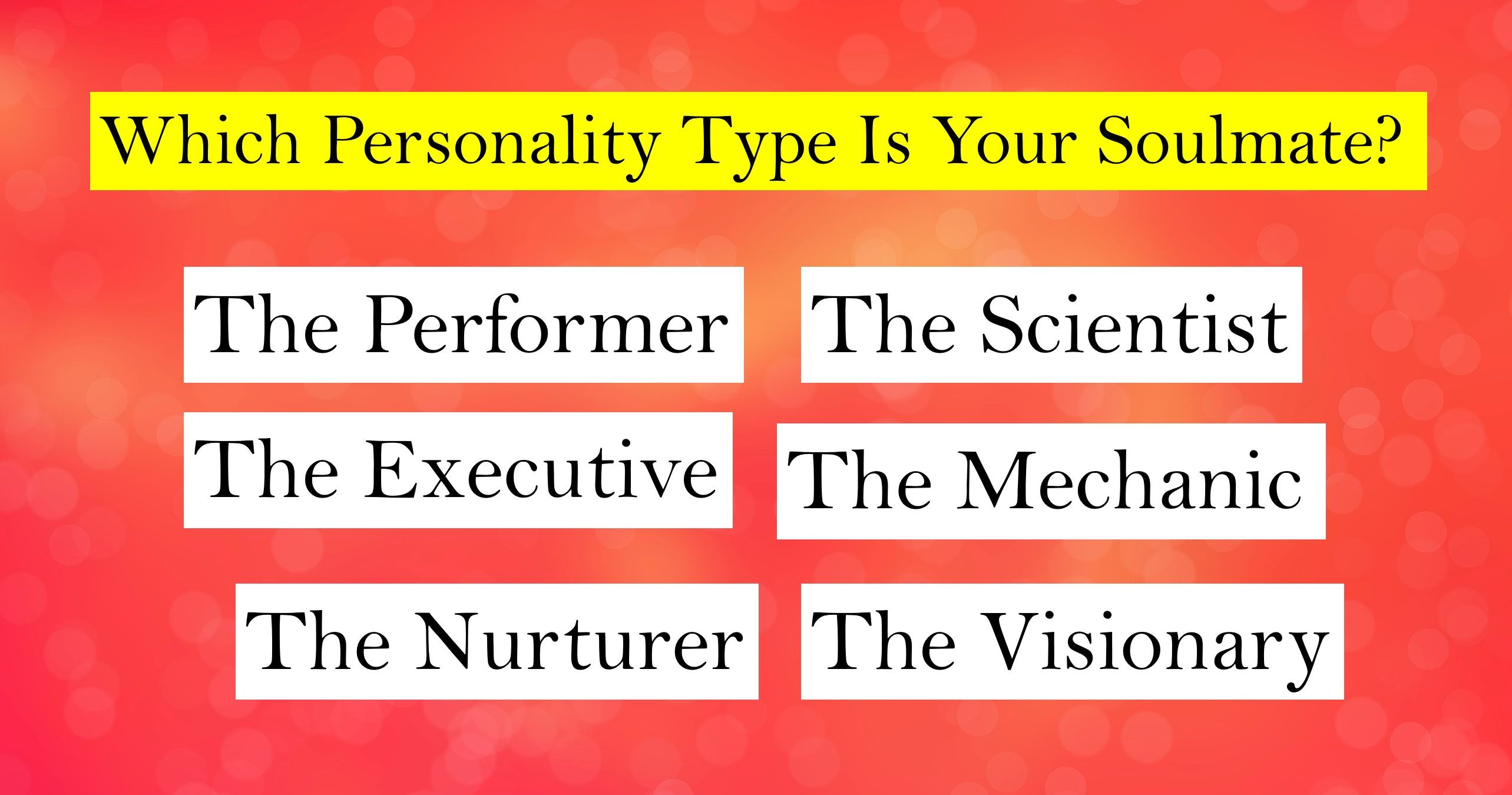 Your dating personality quiz