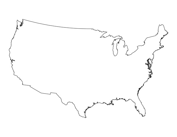 Printable Blank Us Map With State Outlines At Maps Outline Map