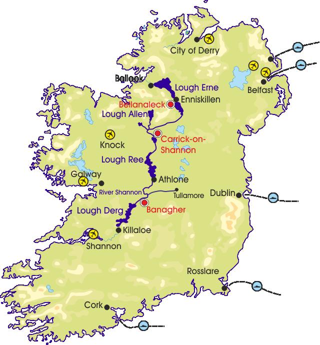 Shannon Ireland Map | compressportnederland