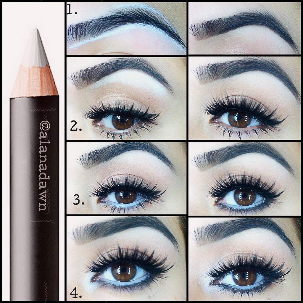 Как я с помощью карандаша и подводки сделать макияж
