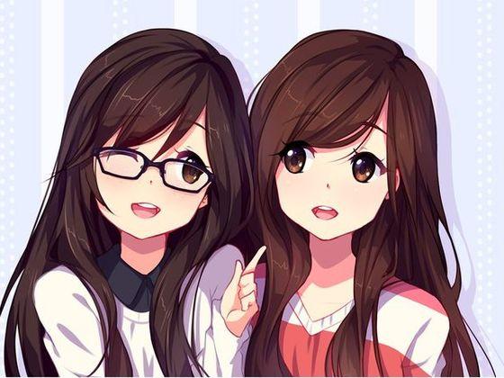 girls animation wearing specs