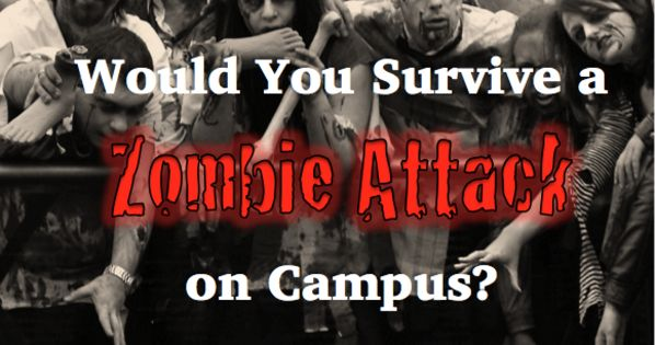 would you survive a zombie attack on campus playbuzz. Black Bedroom Furniture Sets. Home Design Ideas