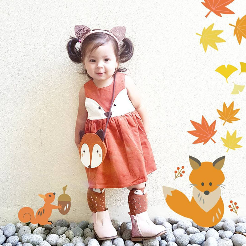 Dress A Toddler In Every Color Of The Rainbow And Weu0027ll Tell You Your Parenting Personality! | Playbuzz  sc 1 st  Playbuzz : fox costume for toddler  - Germanpascual.Com
