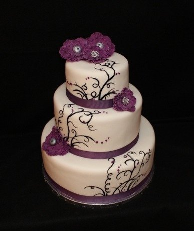 Purple Silver And Black Wedding Cakes - 5000+ Simple Wedding Cakes