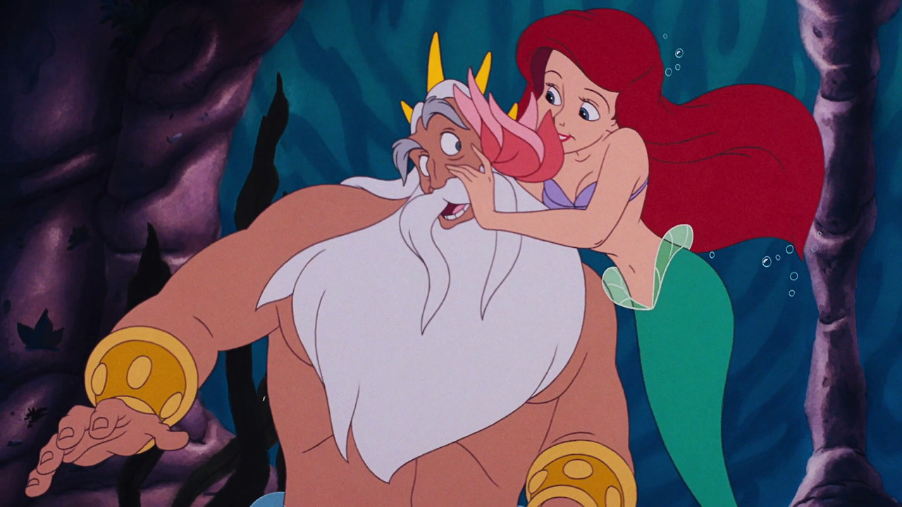 Image result for ariel with father cartoon