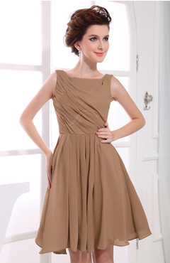 Images of Brown Casual Dress - Reikian