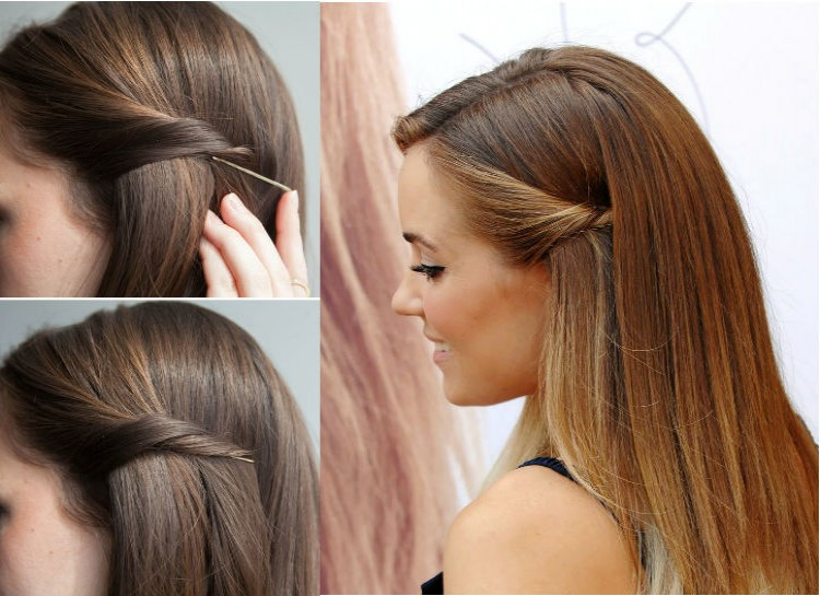 Astounding 20 Hairstyle Hacks That You Can Do With A Bobby Pin Playbuzz Hairstyles For Men Maxibearus