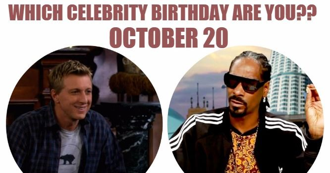 October 20 Birthdays | Famous Birthdays