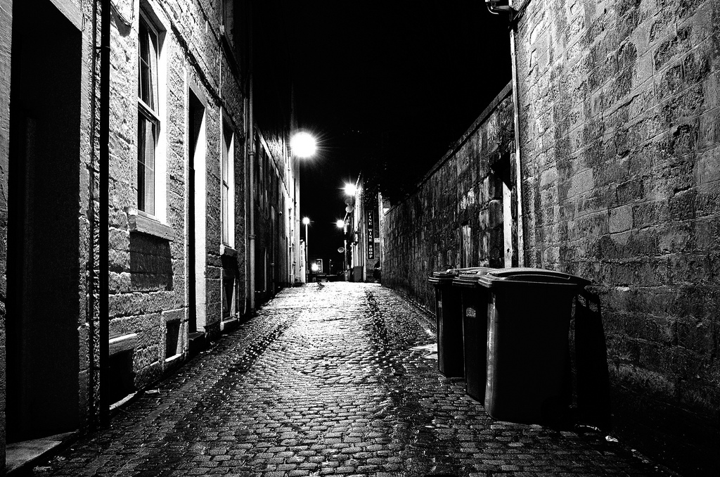 list of synonyms and antonyms of the word  scary alley