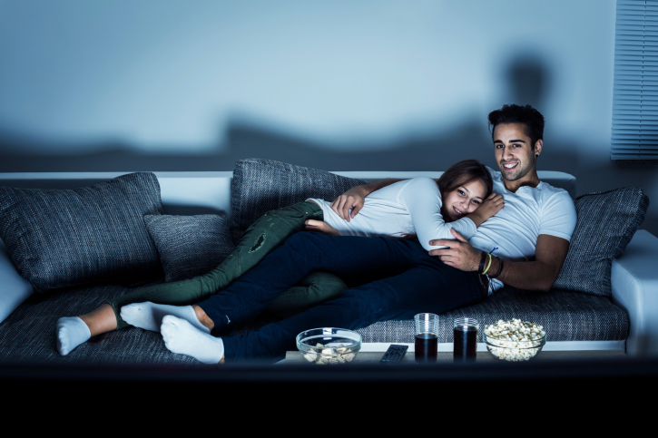 Image result for watching movies at home
