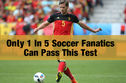 Only 1 In 5 Soccer Fanatics Can Pass This Test