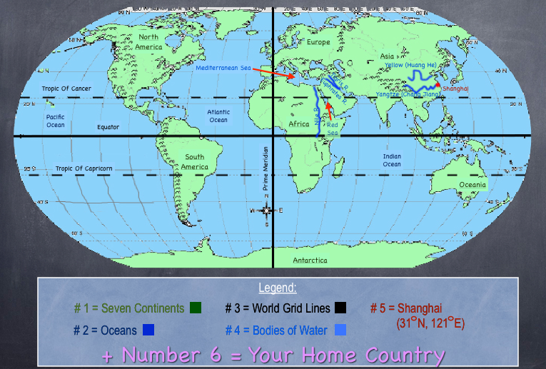 World map with hemispheres and oceans copy key stage 2 world map can i guess your birthday playbuzz gumiabroncs Image collections