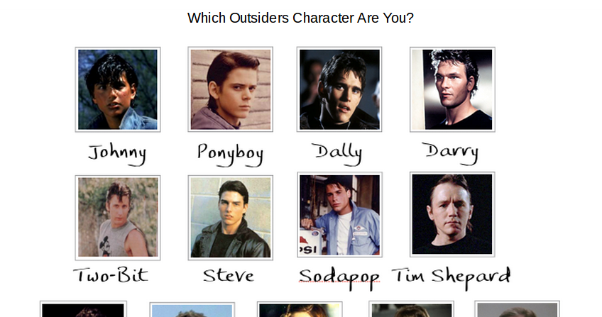 character analysis of ponyboy in the outsiders