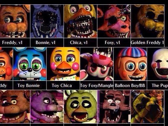 What fnaf character are you find out here not all characters but a