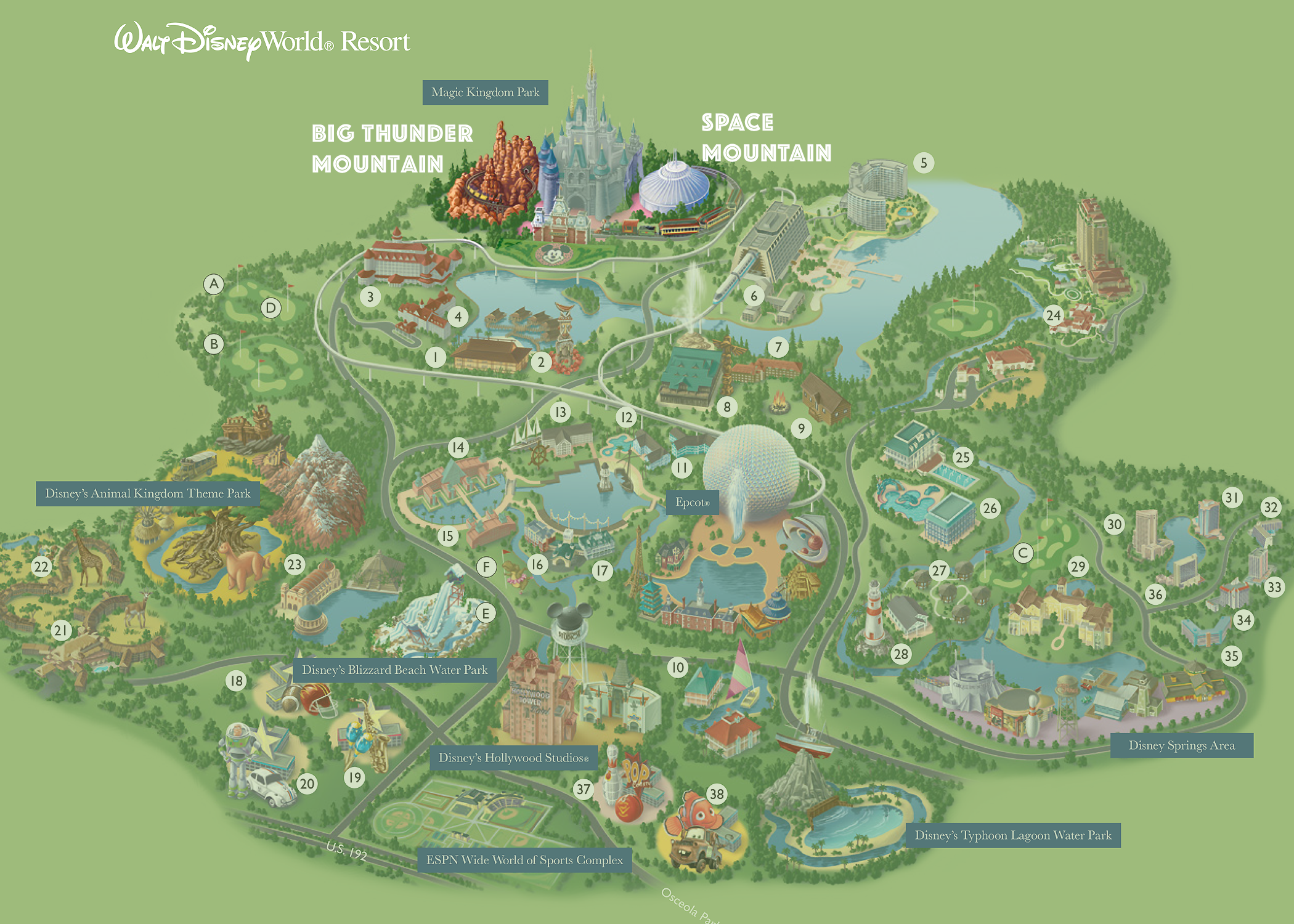 Only 1 of true disney fans will spot whats wrong with this walt only 1 of true disney fans will spot whats wrong with this walt disney world map playbuzz gumiabroncs Gallery
