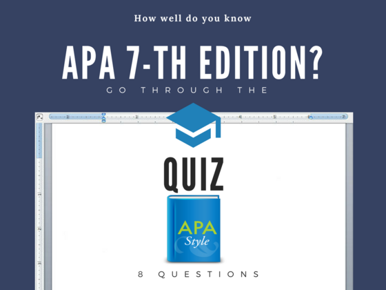 apa 7th edition quiz