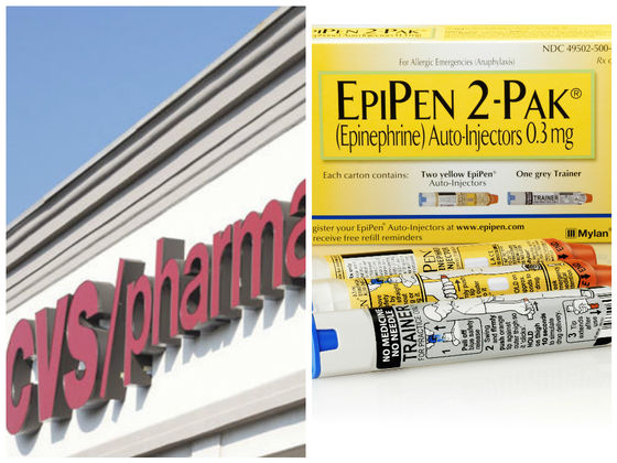 CVS Will Now Offer A Generic EpiPen Alternative At A Sixth Of The Cost