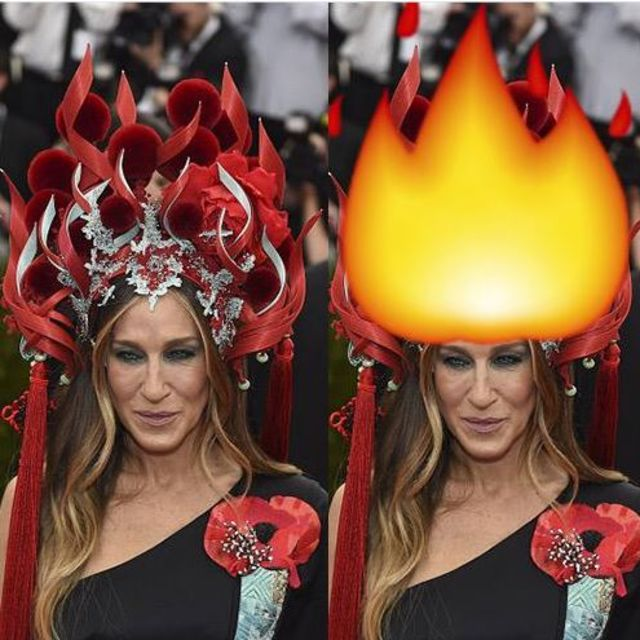 15 things sarah jessica parker and rihanna looked like at the 2015 met gala playbuzz