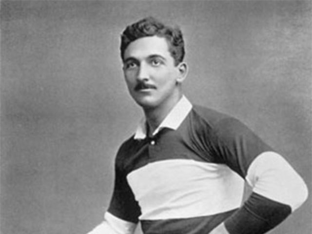 Real! He played for England before becoming a referee in the 1880's
