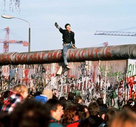 Tearing down of the Berlin Wall