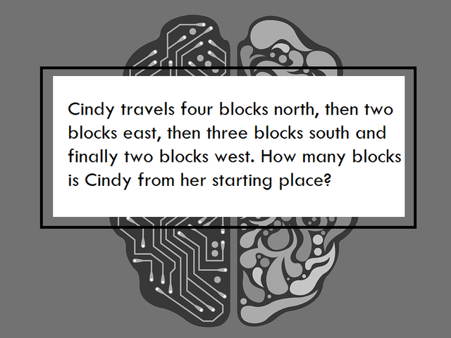 How many blocks away is Cindy?