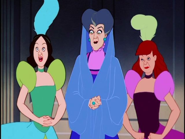 What's the name of Cinderella's dark haired stepsister?