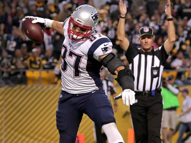 Gronkowski has 75 career touchdown receptions. Brown has 59 career touchdown receptions.