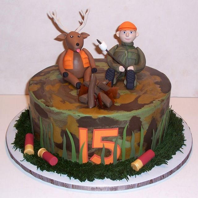 Terrific Top 10 Birthday Cakes For The Deer Hunter Playbuzz Personalised Birthday Cards Veneteletsinfo