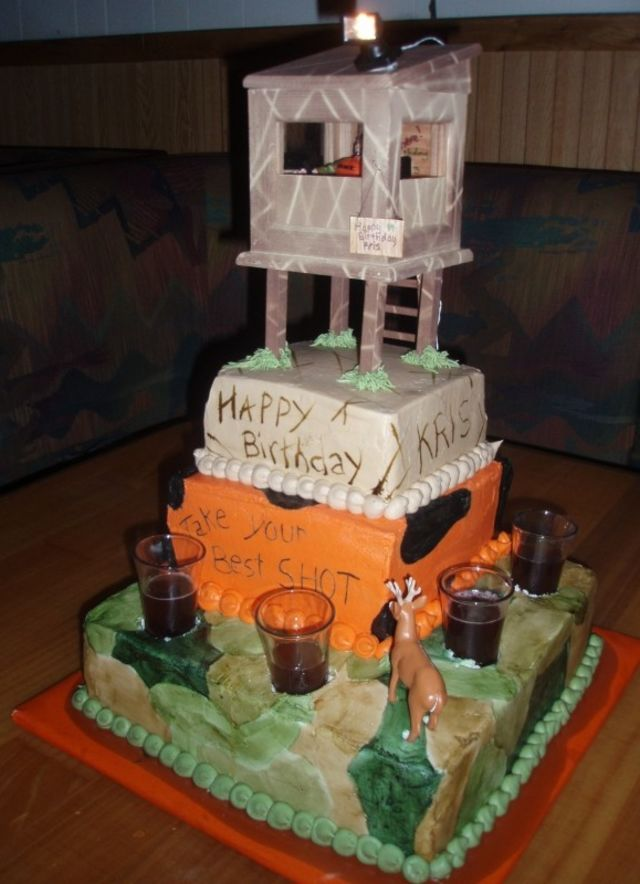 Brilliant Top 10 Birthday Cakes For The Deer Hunter Playbuzz Funny Birthday Cards Online Barepcheapnameinfo