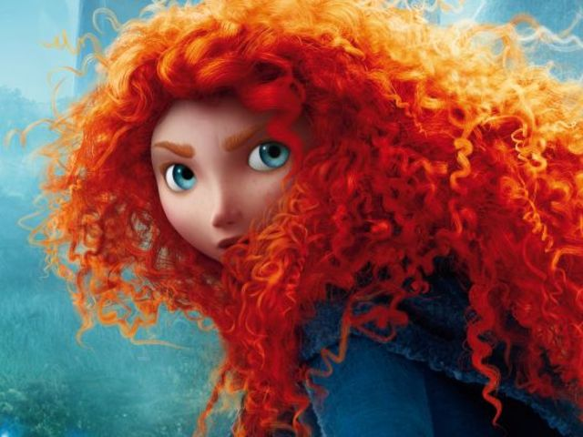 Merida's head is covered in about 1500 curly strands, comprised of about 111,700 individual hairs.