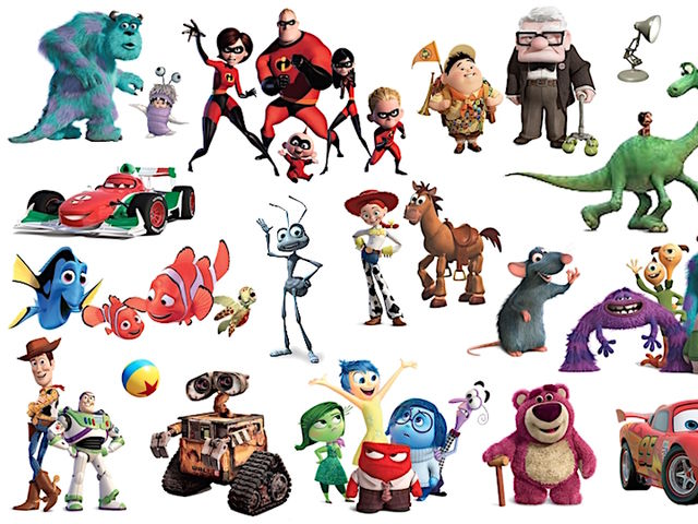 Who is the most liked Pixar character on Facebook?