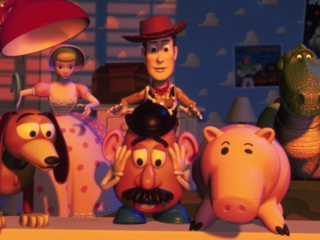 In what year did Toy Story debut, making history as the first fully computer-animated film?