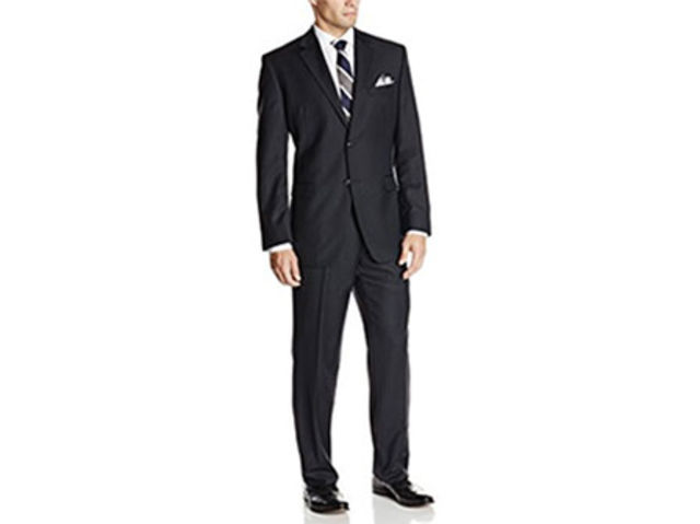 Donald Trump Men's Two-Button Side-Vent Striped Suit, $150.89, available at Amazon.