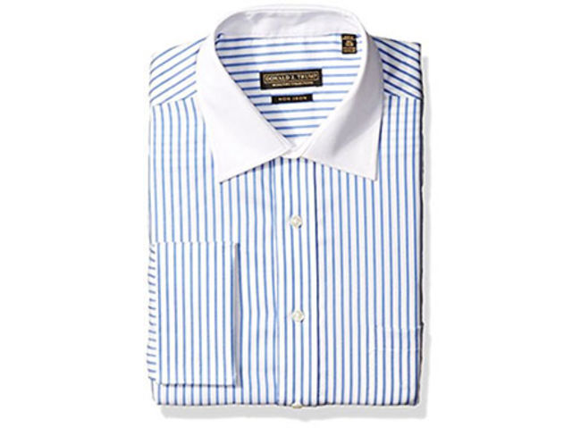 Trump Men's Donald Trump Twill Striped Shirt, $42.99, available at Amazon.