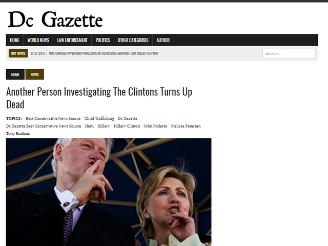 Was there a string of grisly Clinton-related murders?