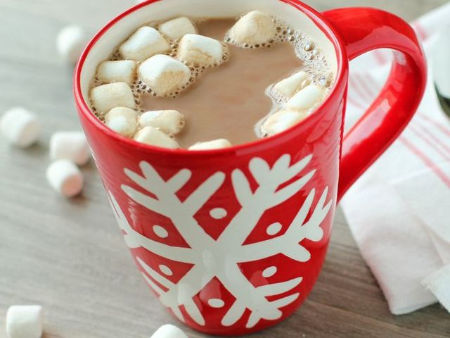 This is a delicious, piping hot mug of cocoa!
