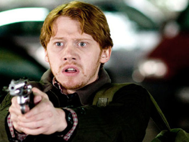 Nope! This is Rupert Grint in Snatch. Seriously, did Ron ever have this much facial hair?