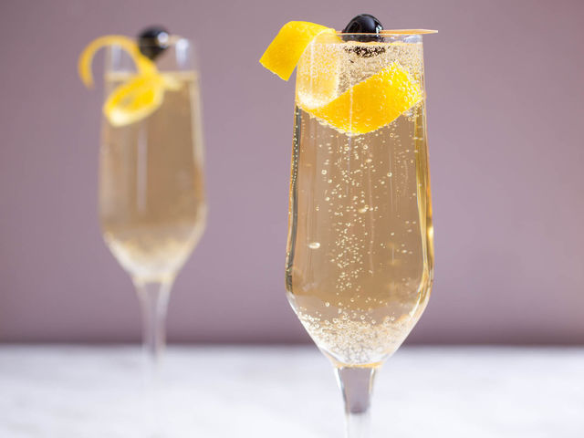 What's the bubbly in these gorgeous, classic French 75s?