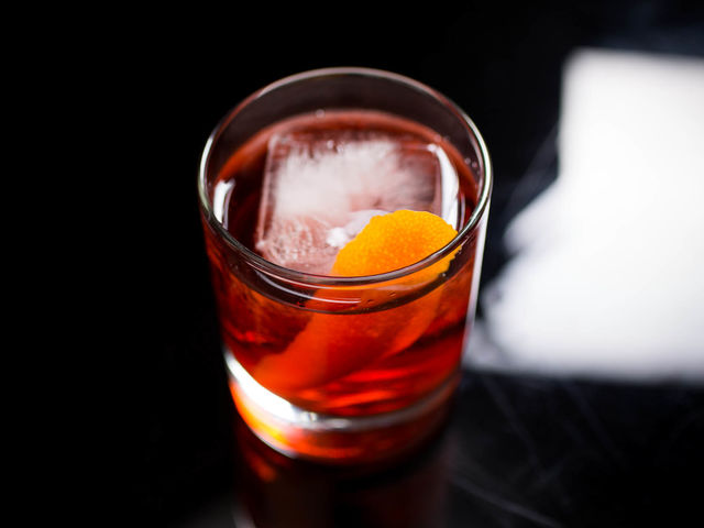 A Negroni has a classic 1:1:1 ratio of which ingredients?