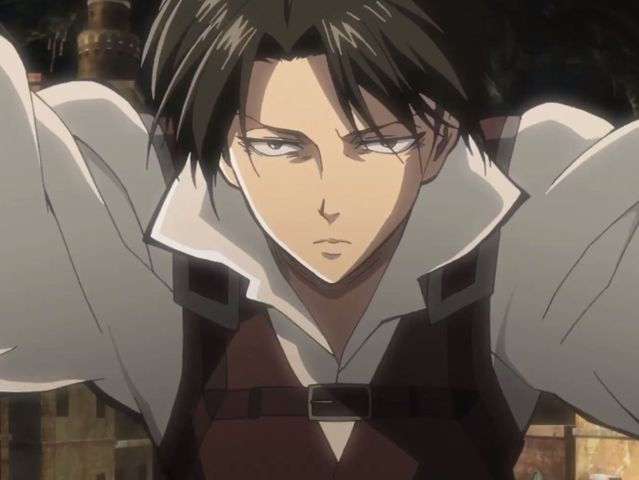 How did Levi react when Historia punched him?