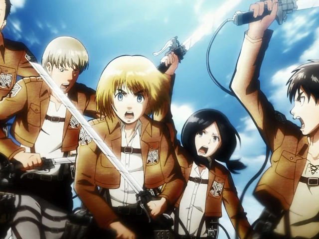 During the battle for Trost district, who was the first one to die from Eren's squad?