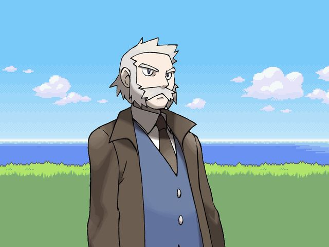Which of the Pokemon Professors gives the player their starting Pokemon?