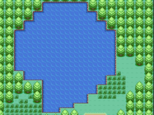 What lake did the player go to in order to find a Legendary Pokemon at the beginning?
