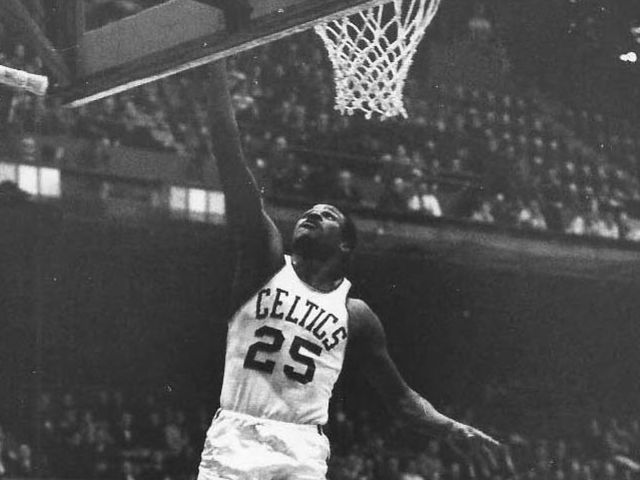 Was K.C. Jones' no. 25 jersey retired by the Celtics?